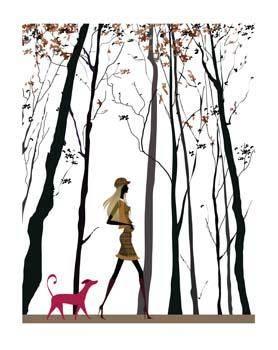 free vector Girl and dog 5
