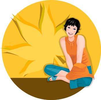 free vector Beautiful sexy Lotus girl vector 5