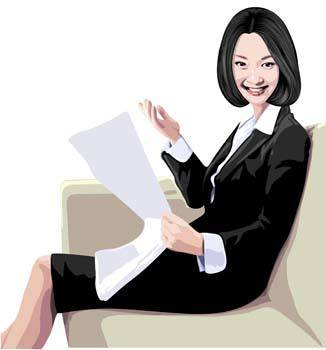 free vector Business women 2