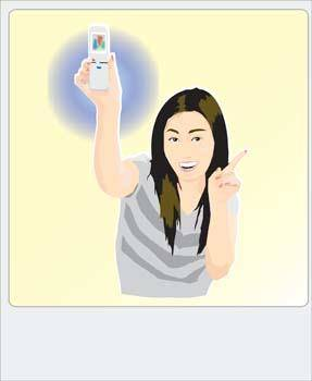 free vector Girl with phone 15