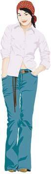 free vector Jeans Girl Vector 10