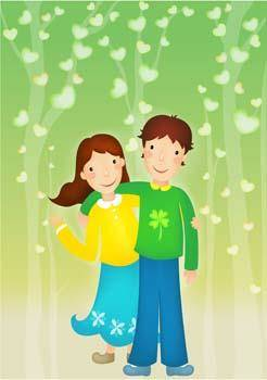 free vector Happy couple in love 23