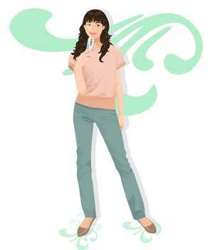 free vector Girl with phone 14