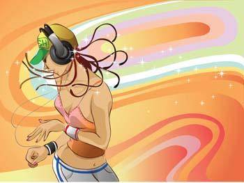 free vector Girl and Music 9