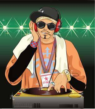 free vector Disc Jockey 8