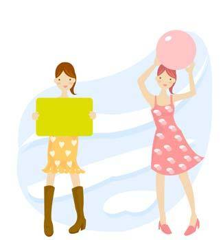 free vector Girl carrier board 9