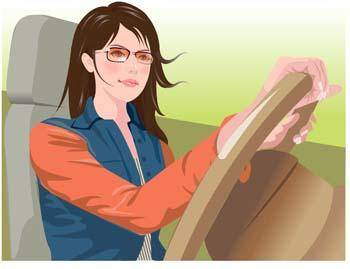 free vector Automotive girl 1