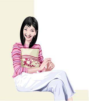 Sit girl position vector 16