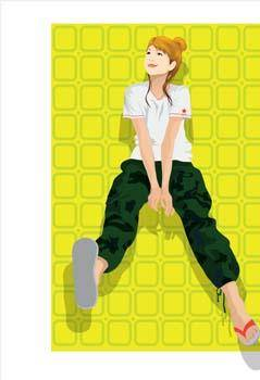 free vector Sit girl position vector 12