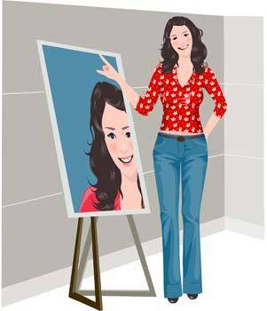free vector Beautiful girls custom pose vector 8