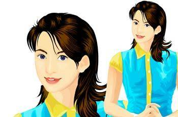 free vector Beautiful Urban Girl 6