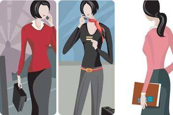 free vector Girl with phone 20