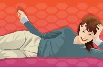 Girl in lay position vector 14