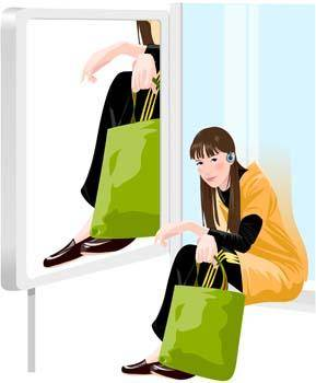 free vector Shopping girl 13