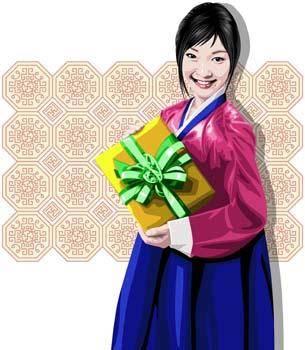 free vector Japanese women 2