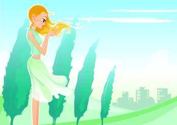 free vector Beautiful Urban Girl 41