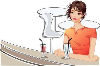 free vector Girl with drink 16