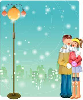 free vector Happy couple in love 19