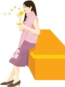 free vector Beautiful Girl with a cup of coffee 15