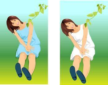free vector Sit girl position vector 28