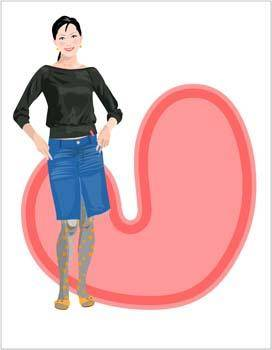 Jeans Girl Vector 21