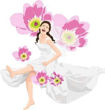 free vector Sit girl position vector 32