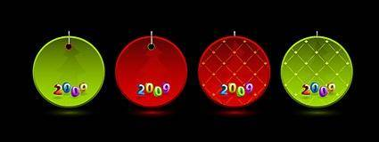 free vector Christmas 2009 Vector tag material