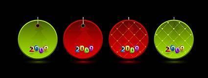 Christmas 2009 Vector tag material