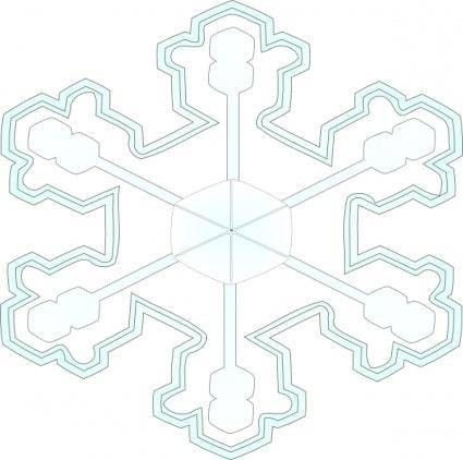free vector Snowflake 3 clip art