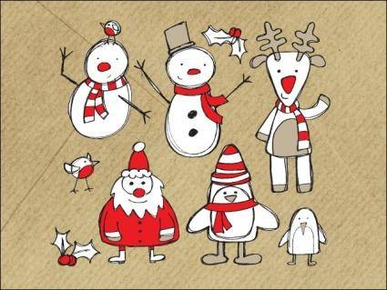 free vector Christmas Sketches