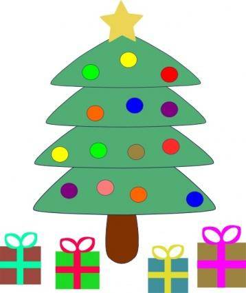 Christmas Tree Gifts clip art 126926