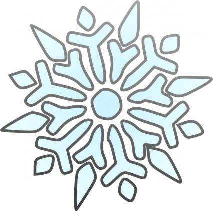 Erik Single Snowflake clip art