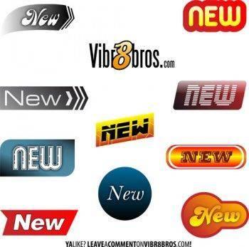 New badges sticker vector, adobe illustrator sticker design, sticker ai vector