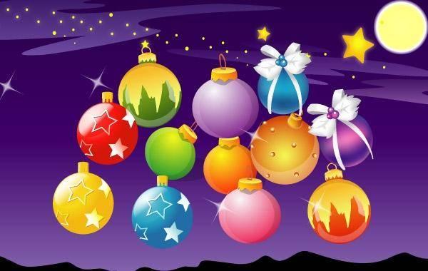 free vector Vector Christmas Ball Christmas Ball Moon