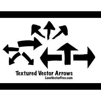 free vector Textured Arrows