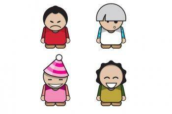 free vector Character vector pack, illustrator vector character, character ai vector