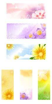 free vector Floral Banners