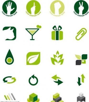free vector Green Logo Design Elements