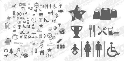 The more common vector graphics icon material