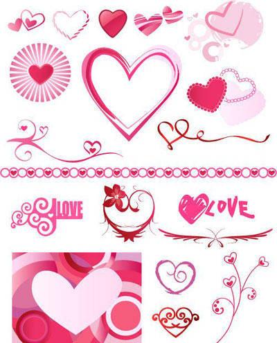free vector Heart element design