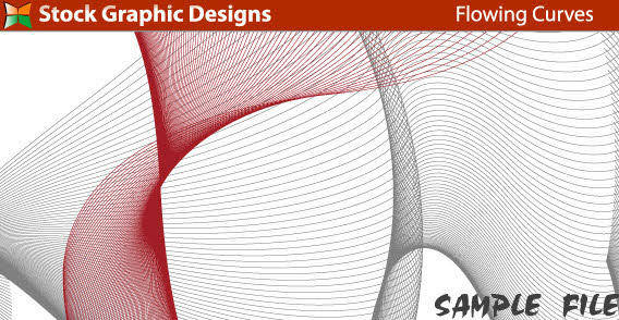Design elements  - Flowing curves 2