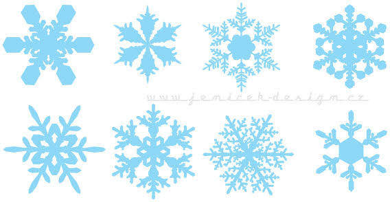 Design elements - Set of snowflakes