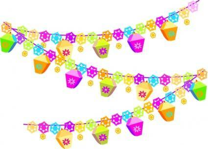 Festival Christmas Decorations clip art