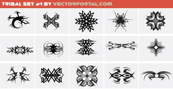 free vector Design elements - Tribal set free vector