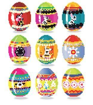 Colorful designer eggs