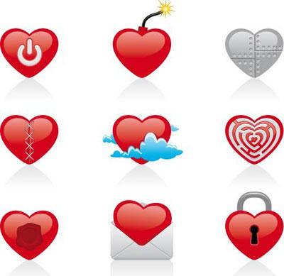 free vector Cut Heart