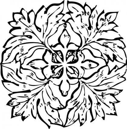 Leaf Decoration clip art