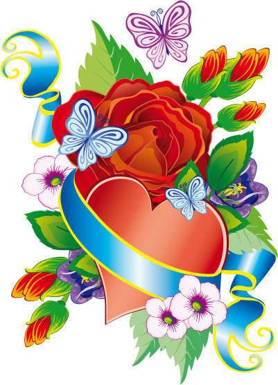 free vector Flower ornament