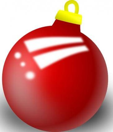 Xmas Ornament Shiney Ball clip art