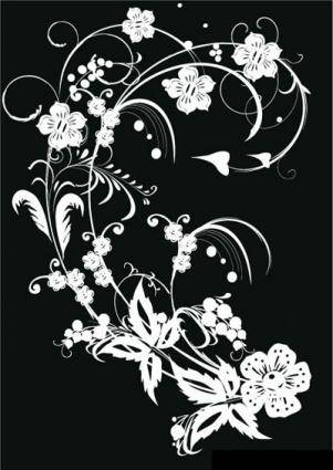 Black & White Flower Decoration